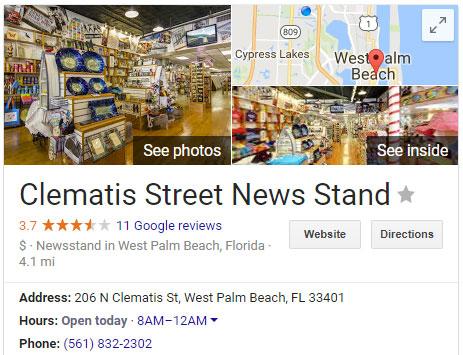 Clematis Street News Stand